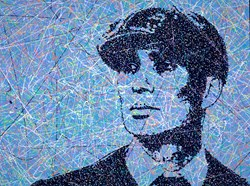 Tommy Shelby by Jim Dowie - Original Painting on Box Canvas sized 40x30 inches. Available from Whitewall Galleries